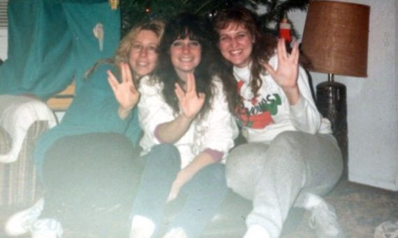 December in the late 1980s. My two bellydancing friends/teachers and I were total STNG fans!
