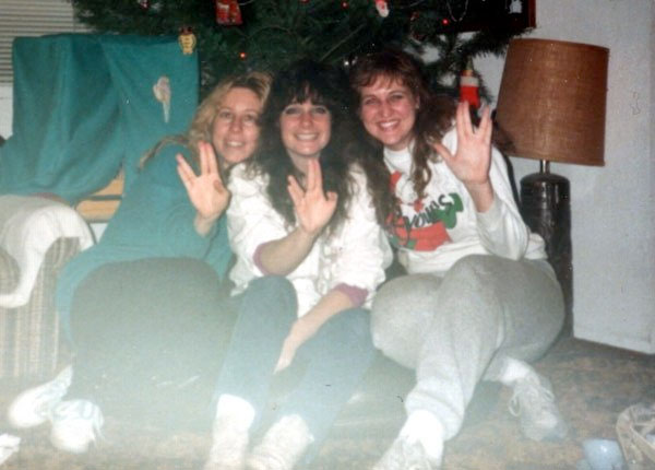December in the late 1980s. My two bellydancing friends/teachers and I were total Star Trek: Next Generation fans!